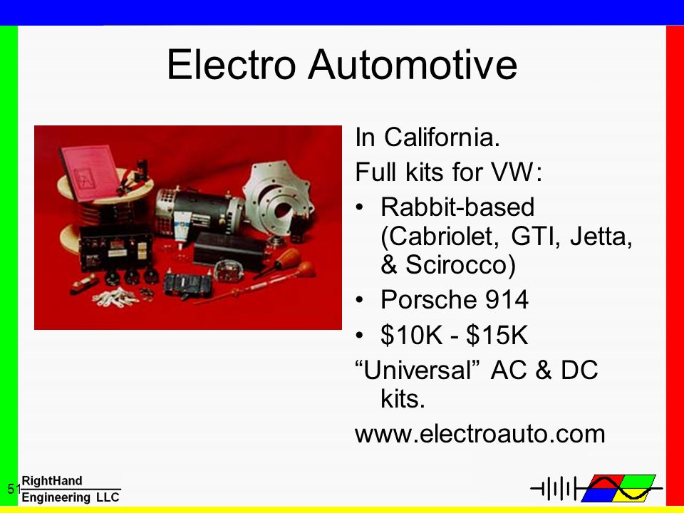 Electro Automotive In California. Full kits for VW: