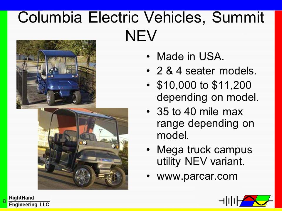 Columbia Electric Vehicles, Summit NEV