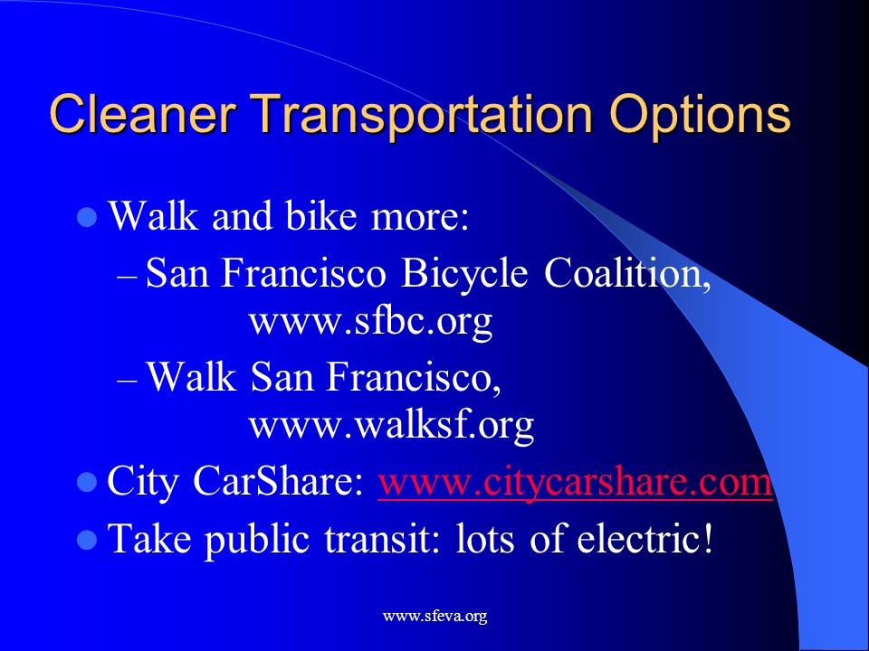 Cleaner Transportation Options
