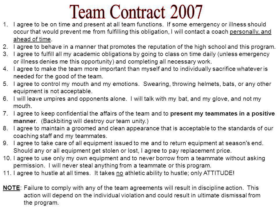 Team Contract 2007