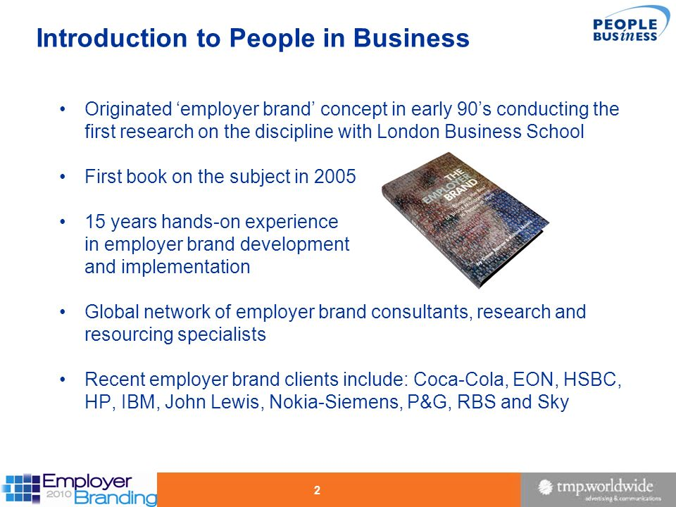 Introduction to People in Business