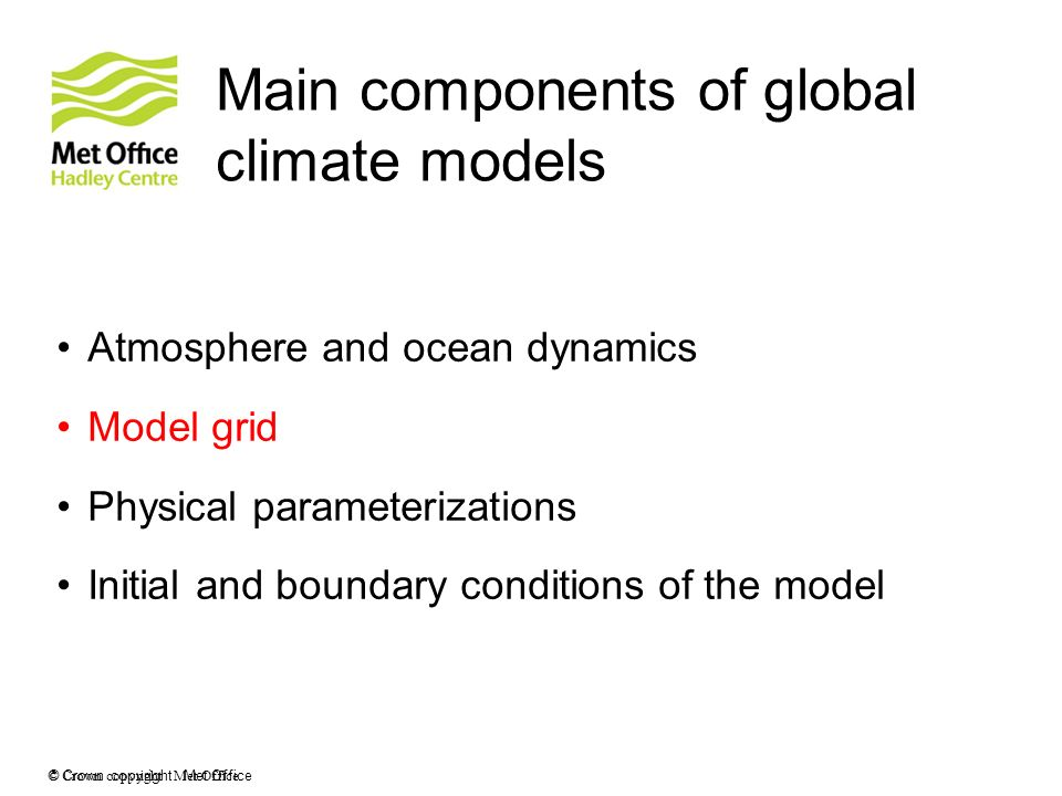 Main components of global climate models