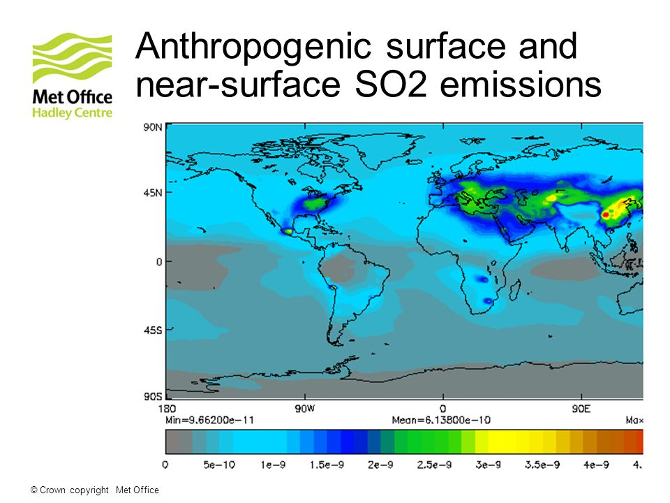 Anthropogenic surface and near-surface SO2 emissions