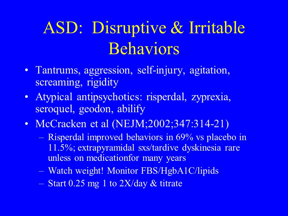 ASD: Disruptive & Irritable Behaviors