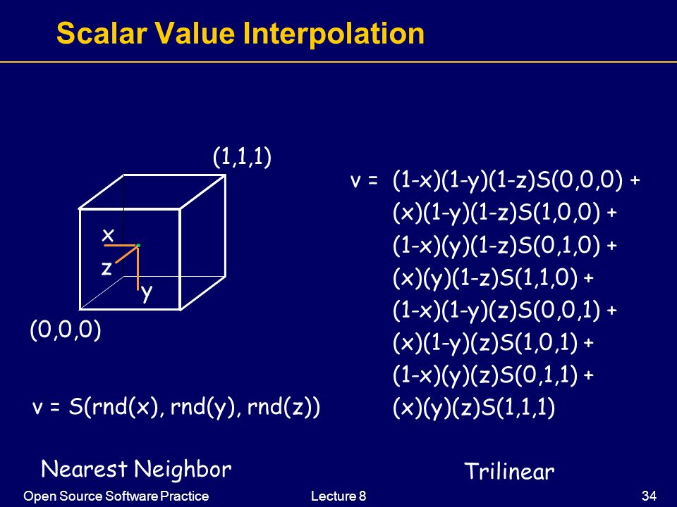 Scalar Value Interpolation