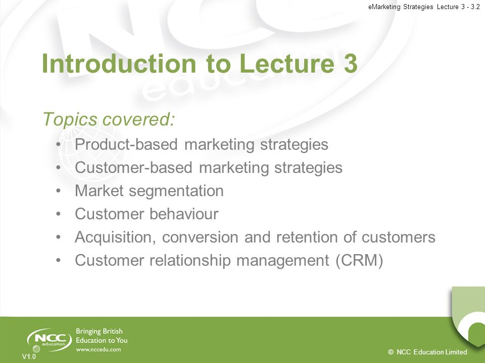 Introduction to Lecture 3