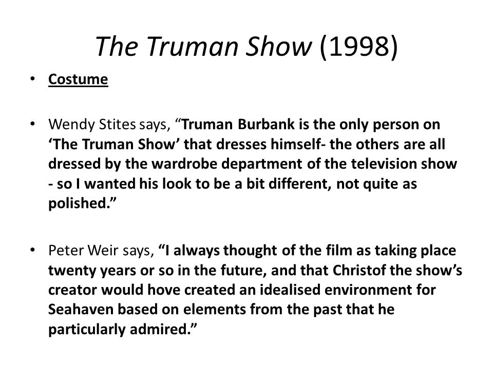 The Truman Show (1998) Costume