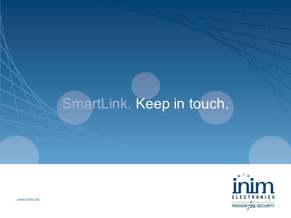 SmartLink. Keep in touch.