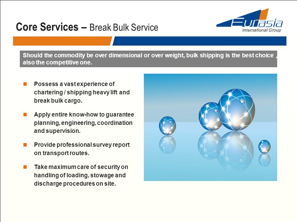 Core Services – Break Bulk Service