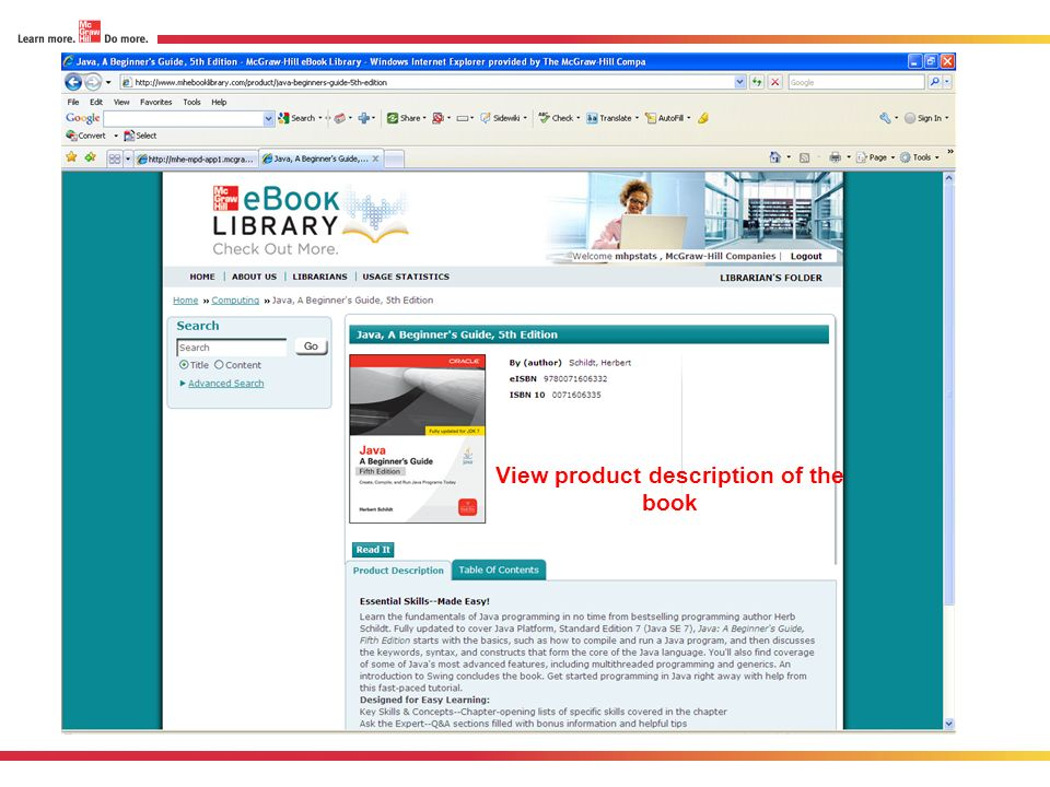 View product description of the book