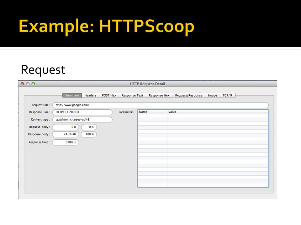Example: HTTPScoop Request