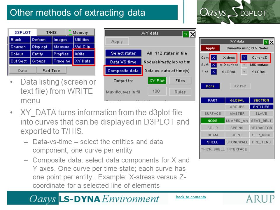 Other methods of extracting data