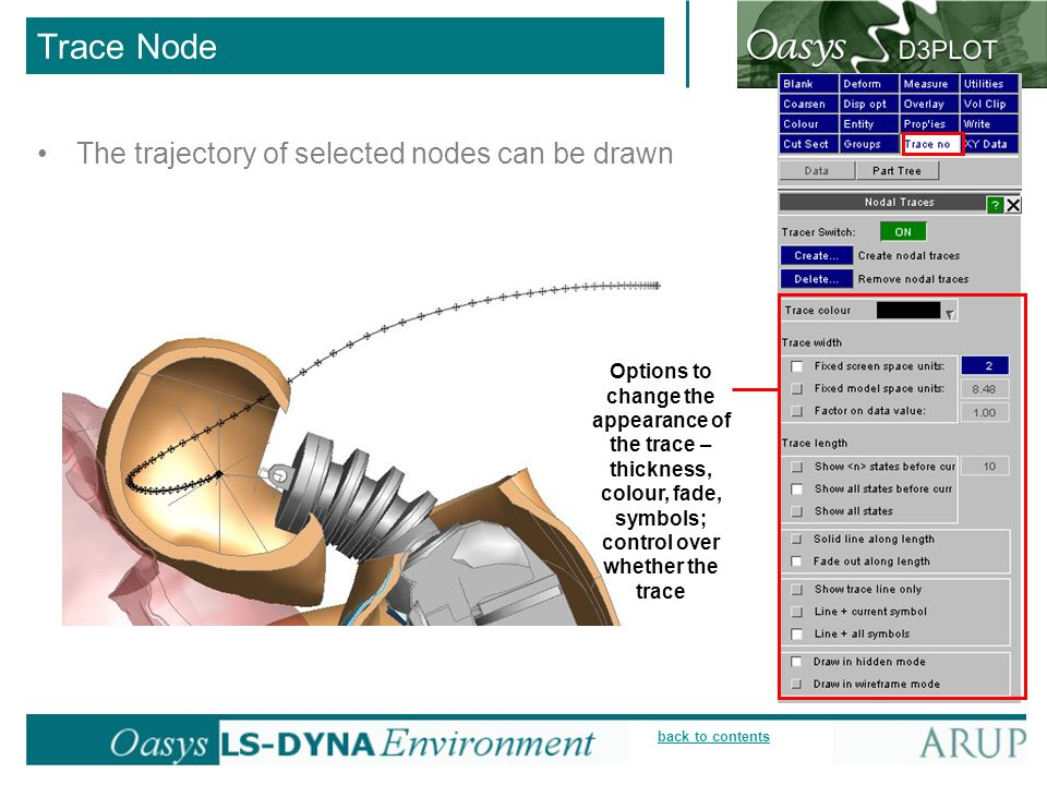 Trace Node The trajectory of selected nodes can be drawn