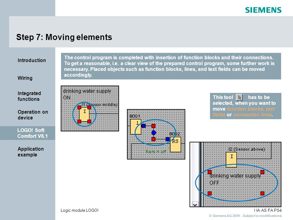 Step 7: Moving elements