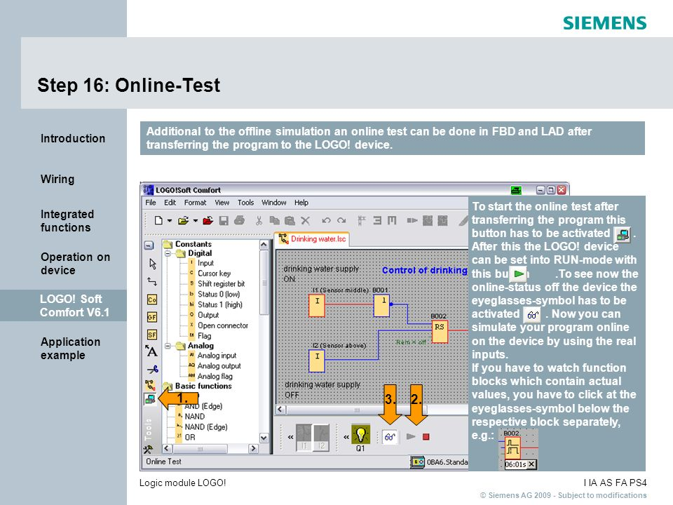 Step 16: Online-Test