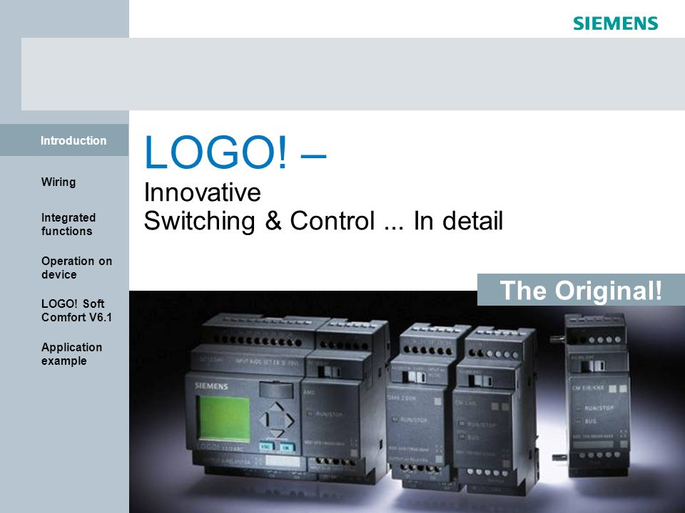 LOGO! – Innovative Switching & Control ... In detail