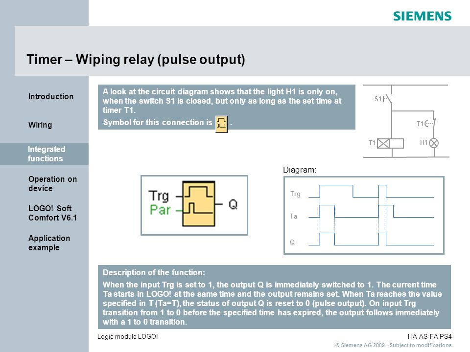Timer – Wiping relay (pulse output)
