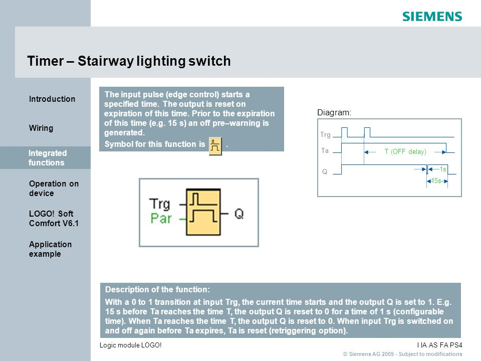 Timer – Stairway lighting switch