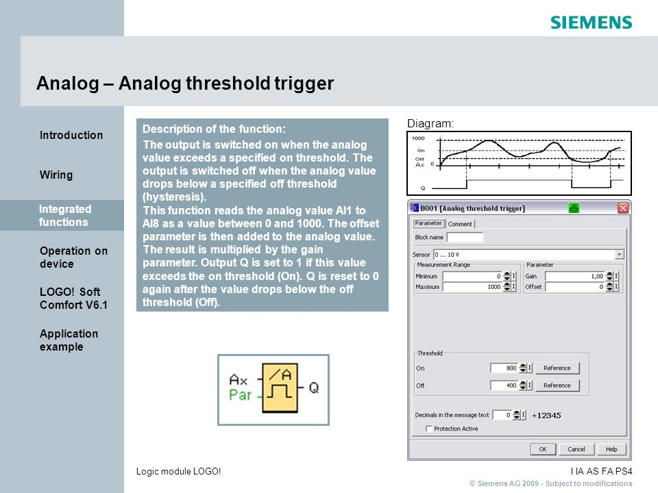 Analog – Analog threshold trigger