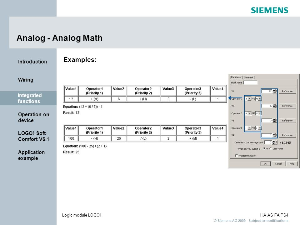 Analog - Analog Math Examples: Integrated functions