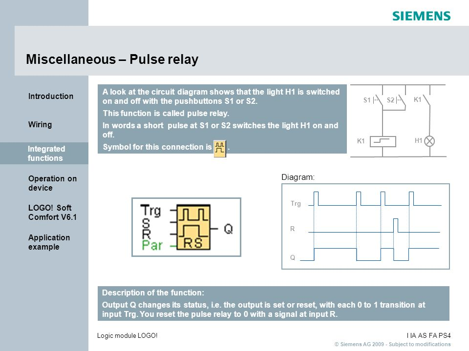 Miscellaneous – Pulse relay