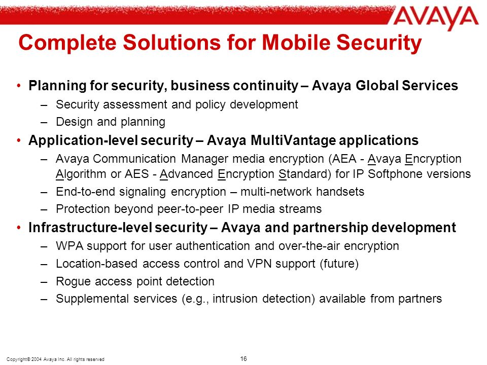 Complete Solutions for Mobile Security