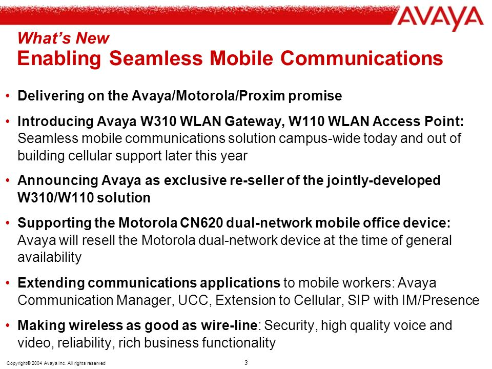 What's New Enabling Seamless Mobile Communications
