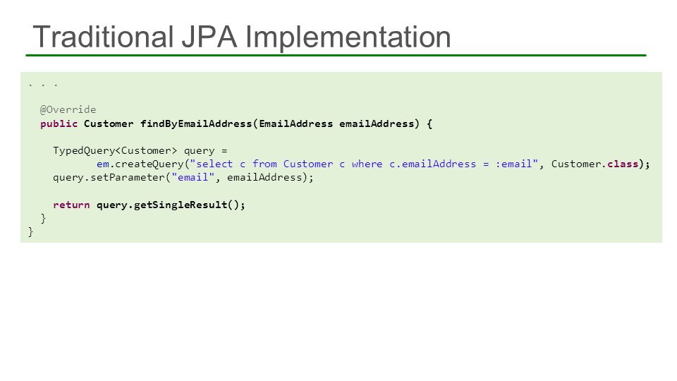 Traditional JPA Implementation