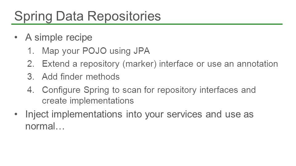 Spring Data Repositories