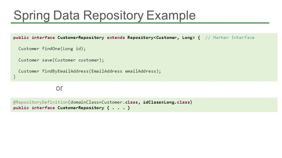 Spring Data Repository Example