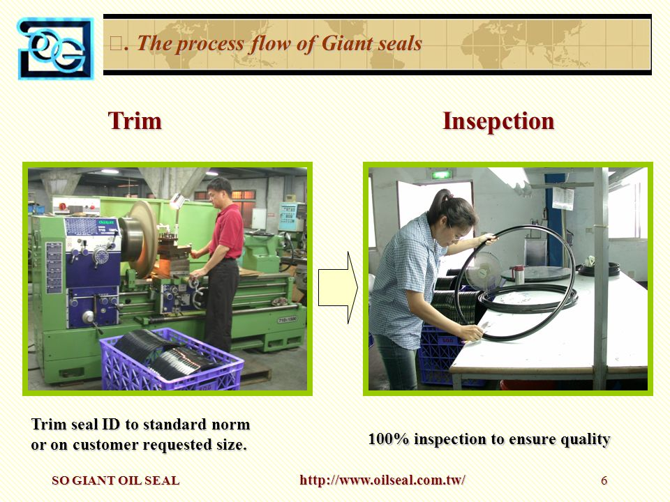 Trim Insepction Ⅲ. The process flow of Giant seals
