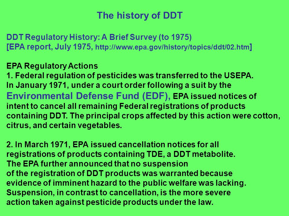Environmental Defense Fund (EDF), EPA issued notices of