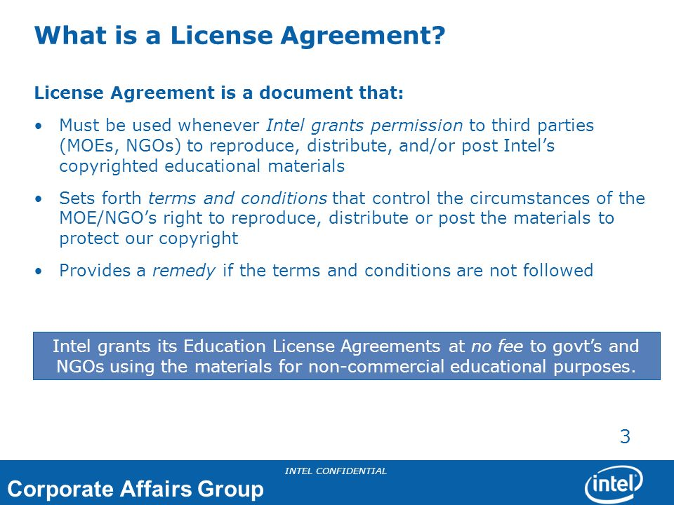 What is a License Agreement