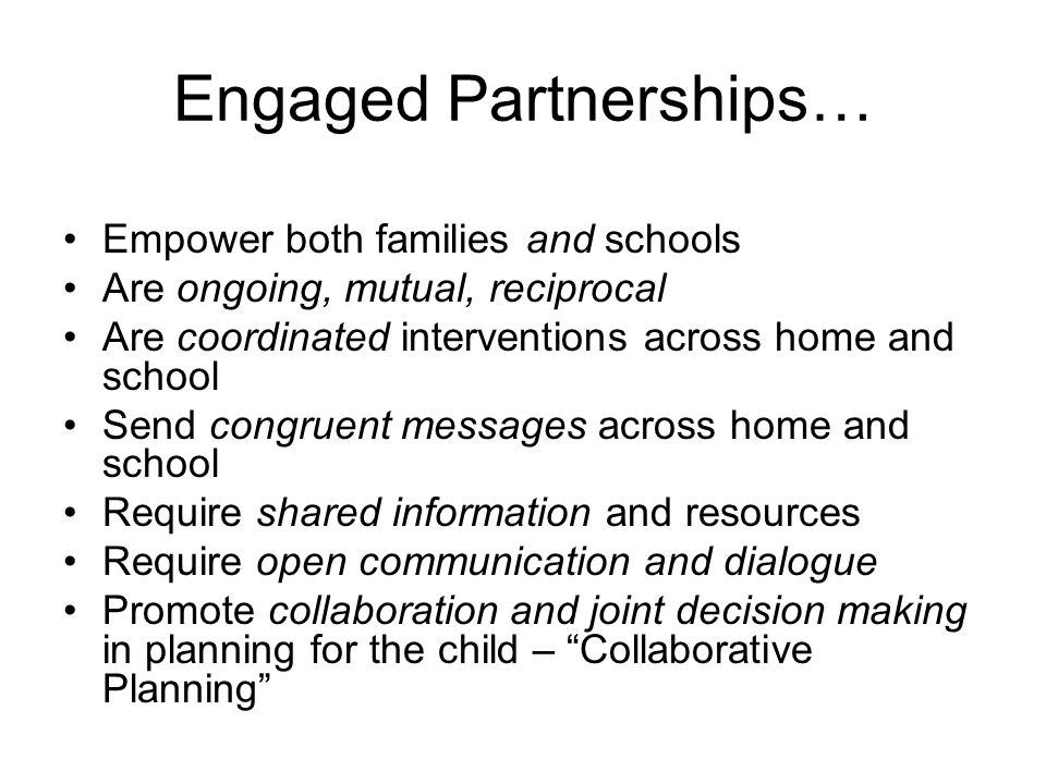 Engaged Partnerships…