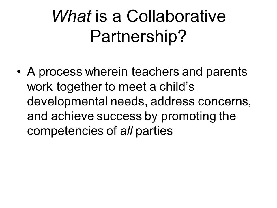 What is a Collaborative Partnership