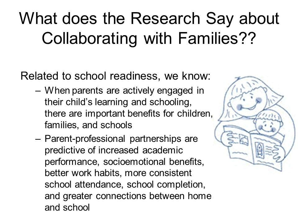What does the Research Say about Collaborating with Families
