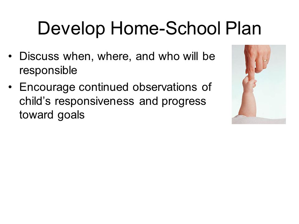 Develop Home-School Plan