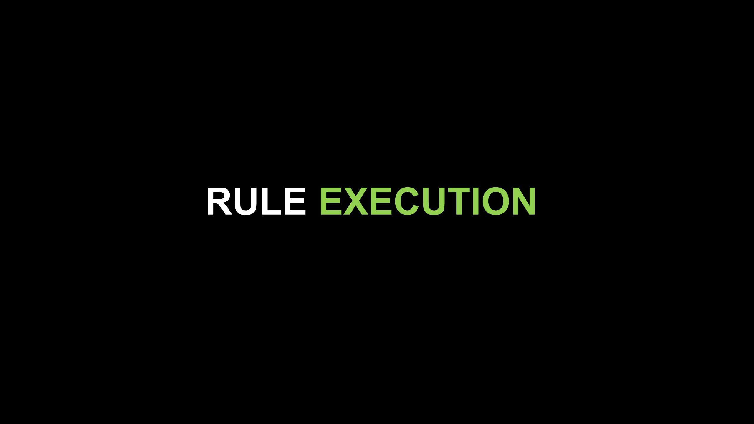 RULE EXECUTION