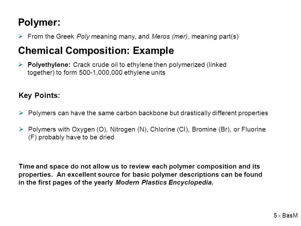 Chemical Composition: Example