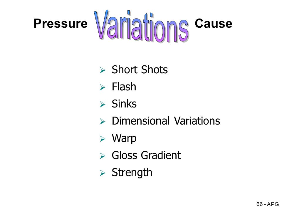 Variations Pressure Cause Short Shots Flash Sinks