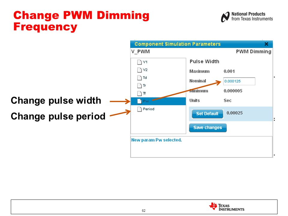Change PWM Dimming Frequency