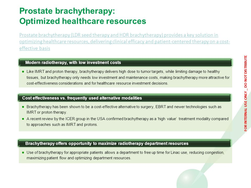 Prostate brachytherapy: Optimized healthcare resources