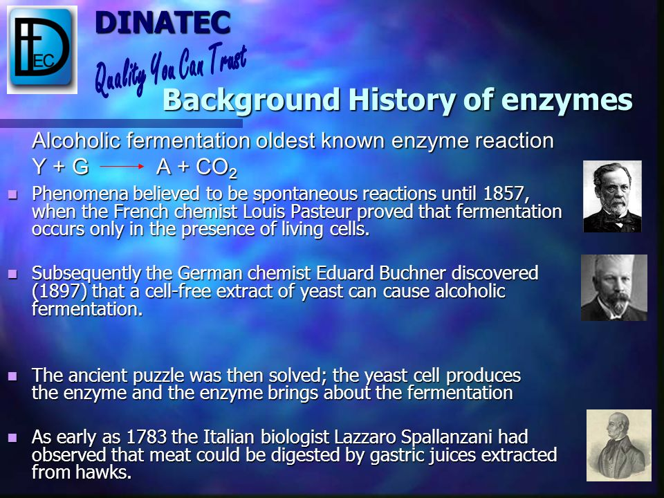 Background History of enzymes