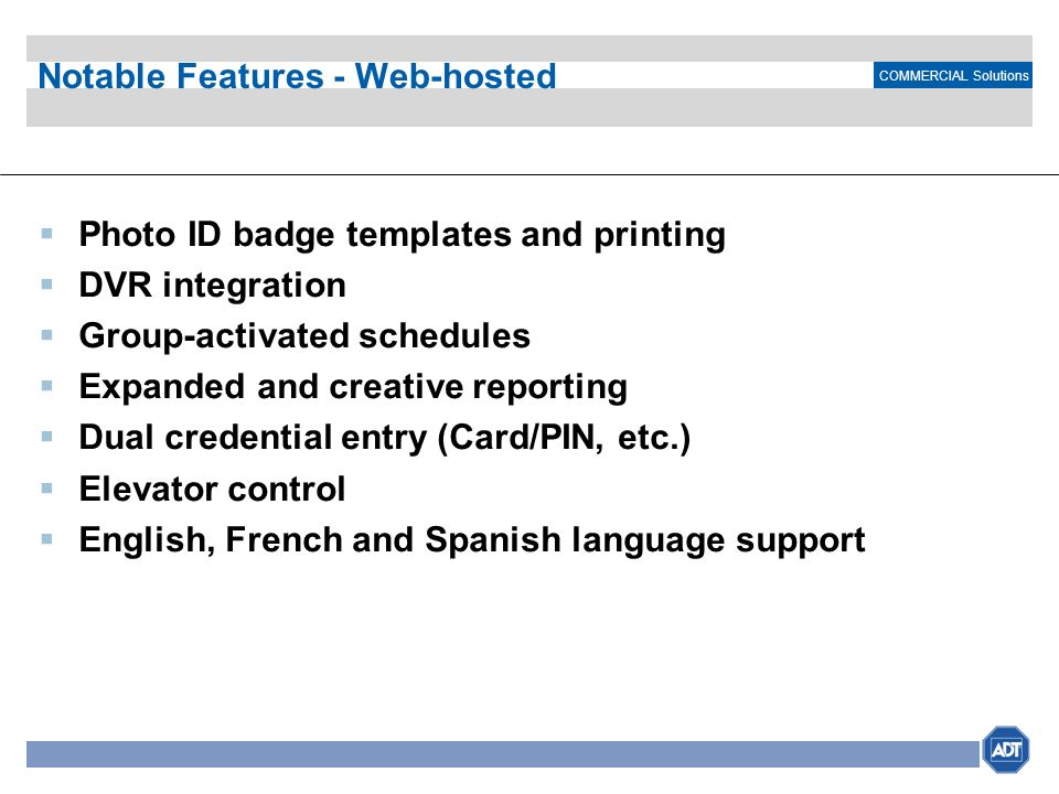 Notable Features - Web-hosted