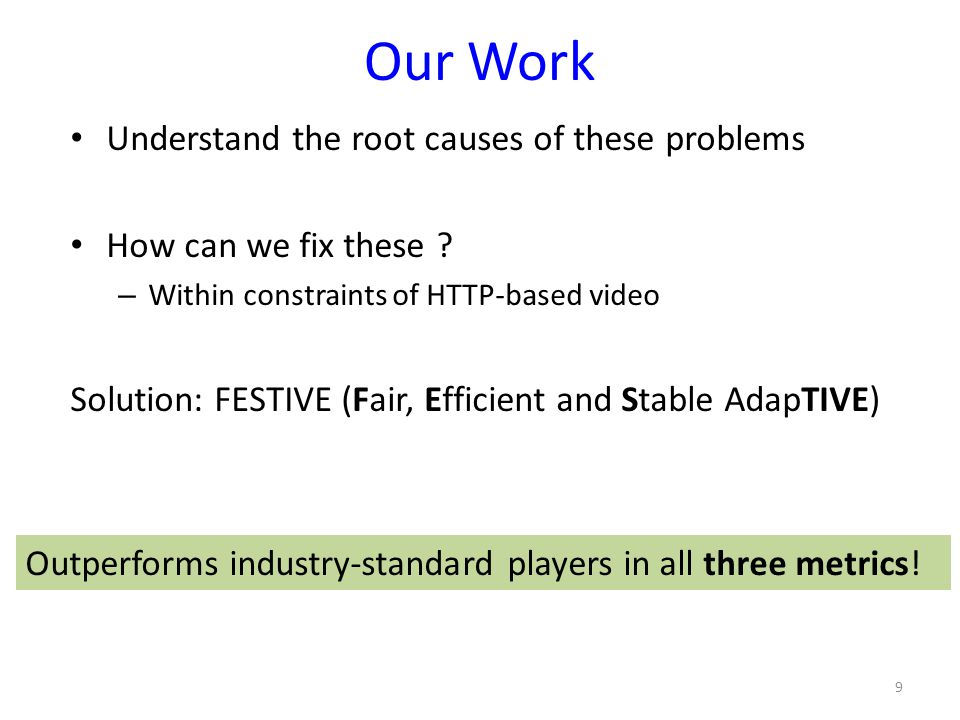 Our Work Understand the root causes of these problems