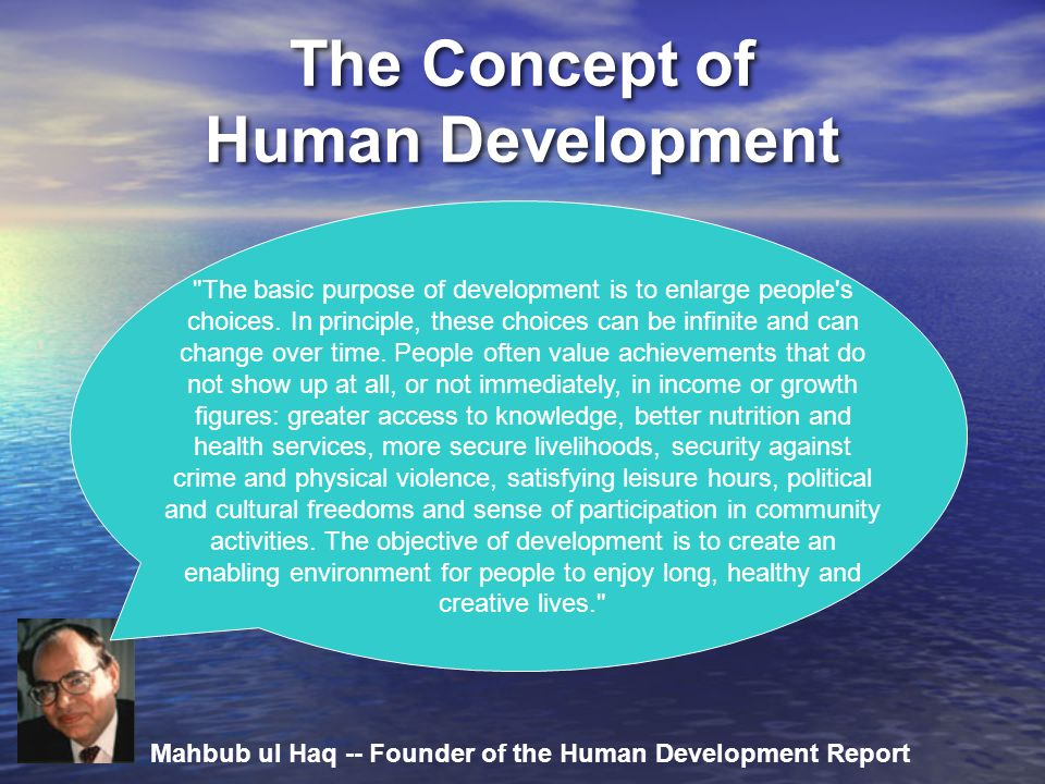 The Concept of Human Development
