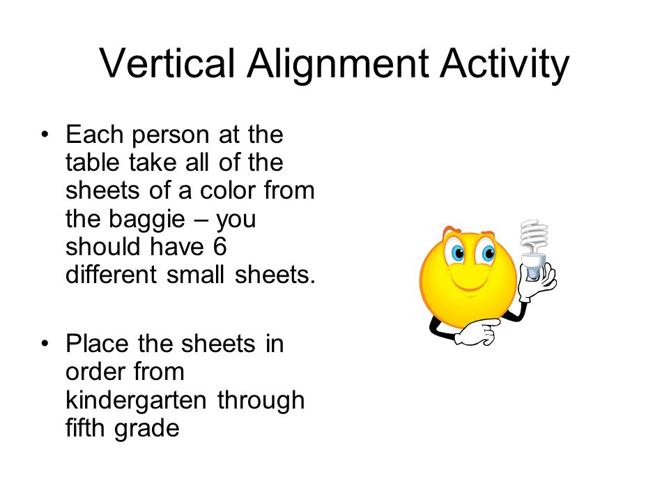 Vertical Alignment Activity