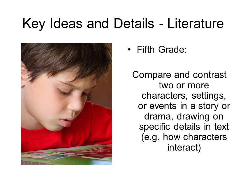 Key Ideas and Details - Literature