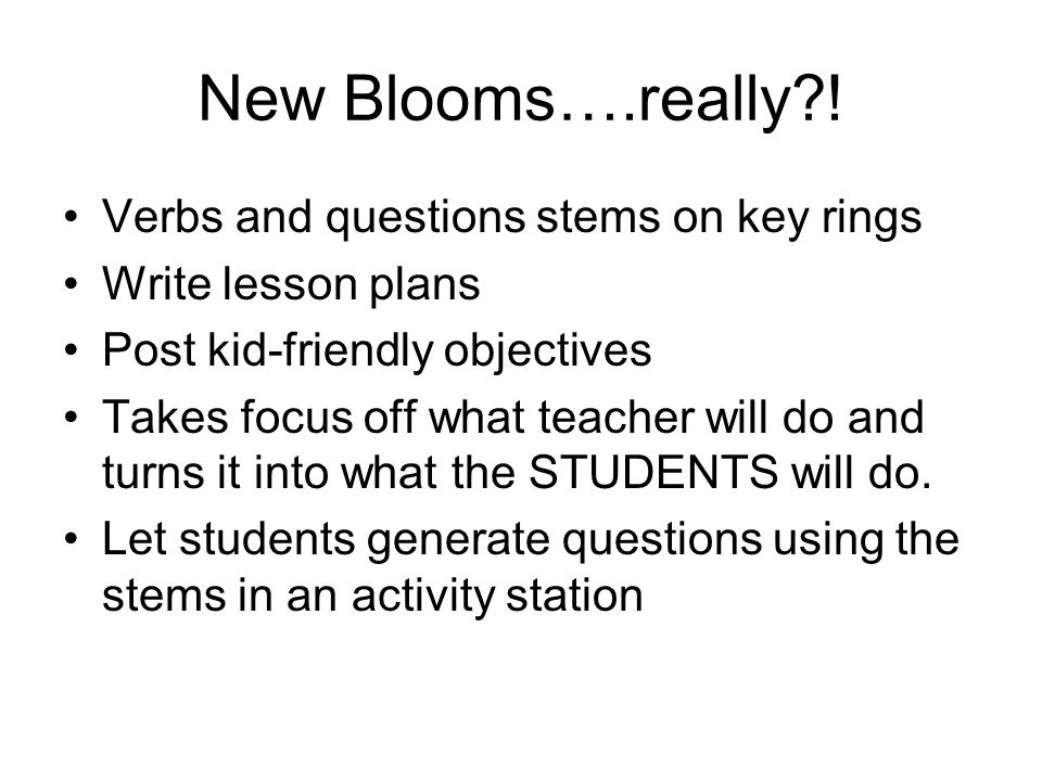 New Blooms….really ! Verbs and questions stems on key rings