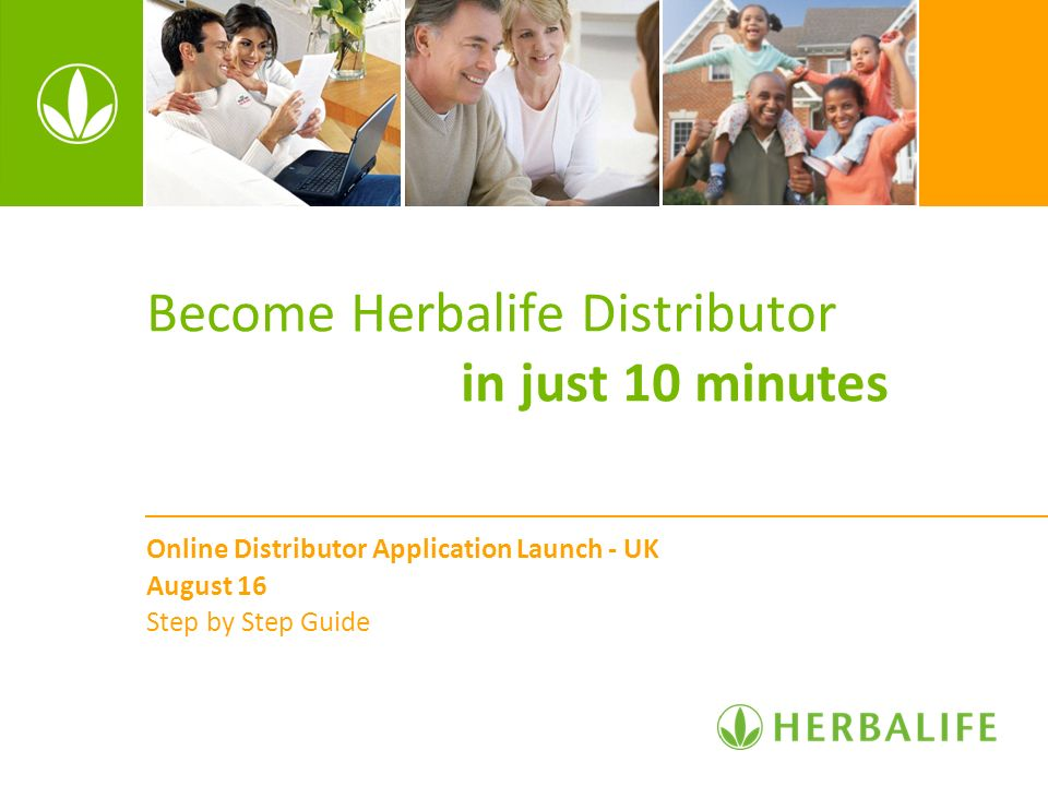 Become Herbalife Distributor in just 10 minutes
